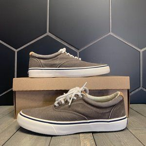 Used W/O Box! Mens Sperry Canvas Boat Shoes Brown